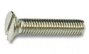 винт DIN 963 c потайной головой и прямым шлицом