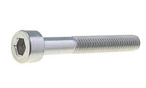винт DIN 912 c цилиндрической головой и шестигранным углублением под ключ